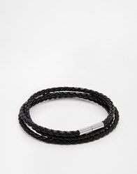 Seven London Woven Wrap Bracelet Black