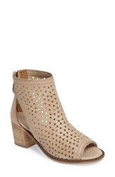 Kelsi Dagger Women's Brooklyn Gateway Perforated Bootie Shell Leather
