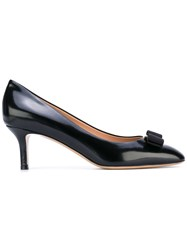Salvatore Ferragamo Bow Low Heel Pumps Women Calf Leather Leather 6.5 Black