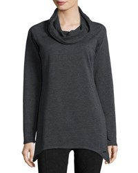 Marc New York Sharkbite Fleece Tunic Charcoal H