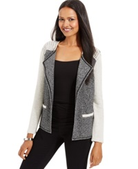 Style And Co. Petite Studded Open Front Blazer