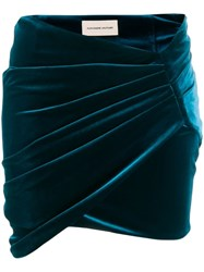 Alexandre Vauthier Wrap Mini Skirt Blue