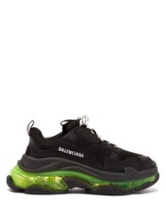 Balenciaga Triple S Mesh Trainers Black Yellow