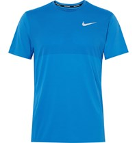Nike Running Zonal Cooling Relay Dri Fit Mesh T Shirt Blue