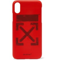 Off White Logo Print Iphone X Case Red