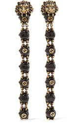 Gucci Gold Tone Bead Clip Earrings One Size