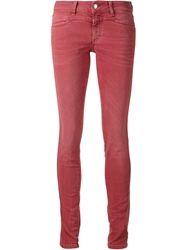 Closed Skinny Jeans Red