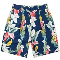 Engineered Garments Floral Sunset Short Blue