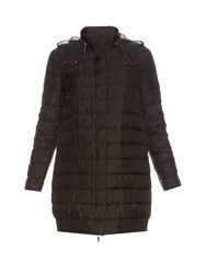 Moncler Gamme Rouge Mimosa Down Filled Silk Twill Coat Black
