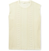 Our Legacy Crochet Knit Cotton Blend Tank Top Neutrals