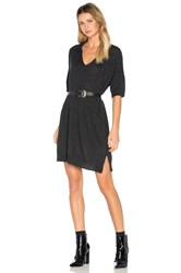 James Perse Cashmere Polo Dress Charcoal