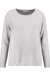 Duffy Cotton And Cashmere Blend Sweater Light Gray