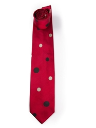 Gianfranco Ferre Vintage Polka Dot Tie Red