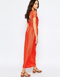 Sessun Open Back Maxi Dress In Red Red
