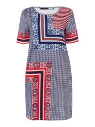 Sportmax Code Ucraina Jersey Printed T Shirt Dress Blue