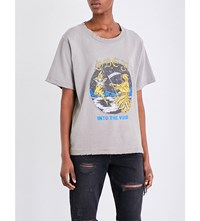 Obey Into The Void Cotton Jersey T Shirt Dusty Stone Grey