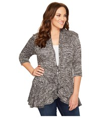 Kiyonna Love Story Cardigan Static Women's Sweater Gray