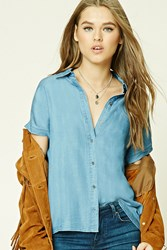 Forever 21 Chambray Dolman Shirt