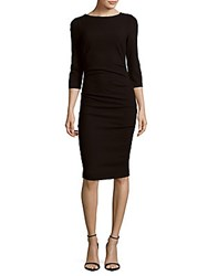 Nicole Miller Christina Solid Boatneck Dress Black