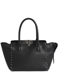 Valentino Rolling Noir Grained Leather Bag