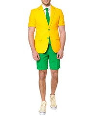 Opposuits Green And Gold Two Tone Suit Yellow Green