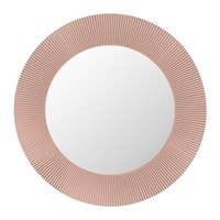 Kartell All Saints Round Led Mirror Nude Pink