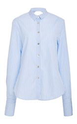 Tuinch Open Back Cotton Stripe Shirt