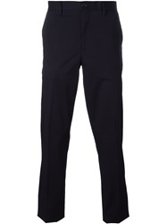 Ps Paul Smith Front Pleated Trousers Blue