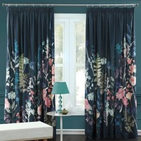 Bluebellgray Peggy Midnight Pleat Curtains Blue