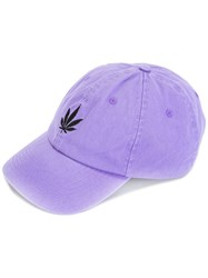 Palm Angels Logo Embroidered Cap Pink Purple