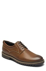 Rockport Marshall Plain Toe Derby Fawn Brown Leather