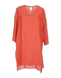 Roberto Collina Dresses Short Dresses Women Coral