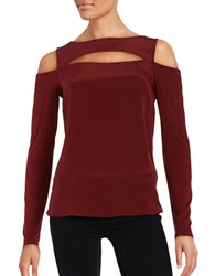 Bailey 44 Cold Shoulder Cutout Top Garnet