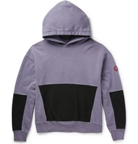 Cav Empt Overdyed Loopback Cotton Jersey Hoodie Purple