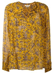Etoile Isabel Marant 'Boden' Blouse Yellow Orange