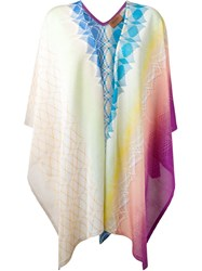 Missoni Patterned Knit Poncho Multicolour