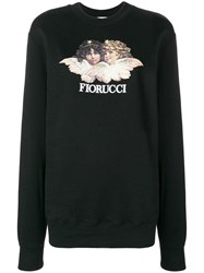Fiorucci Angels Print Sweater Black
