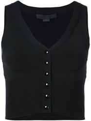 Alexander Wang Sleeveless Cardigan Black