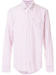 Gant Rugger Oxford Striped Button Down Shirt Pink And Purple