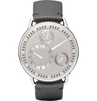 Ressence Type 1 Ch Titanium And Leather Watch Black