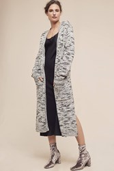 Anthropologie Mayer Speckled Duster Cardigan Grey Motif