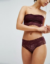 Pieces Brazilian Lace Knickers Port Royale Red