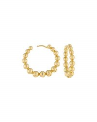 Memoire 18K Yellow Golden Bubbles Medium Hoop Earrings