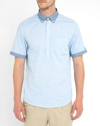 Tommy Hilfiger Blue End On End Short Sleeve Shirt