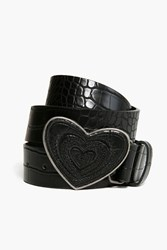 Desigual Hearts Belt Black