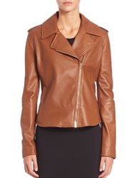 Max Mara Ginepro Leather Jacket Tobacco