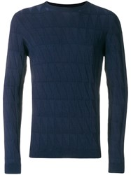 Giorgio Armani Perfectly Fitted Sweater Blue