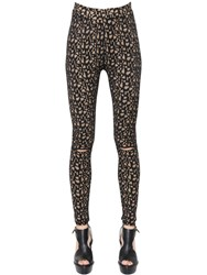 Akris Jacquard Knit Leggings