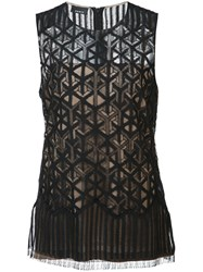 Akris Sleeveless Top Black