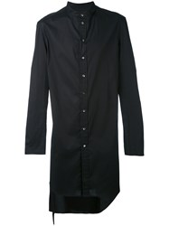 Tom Rebl Long Classic Shirt Men Cotton Spandex Elastane 52 Black